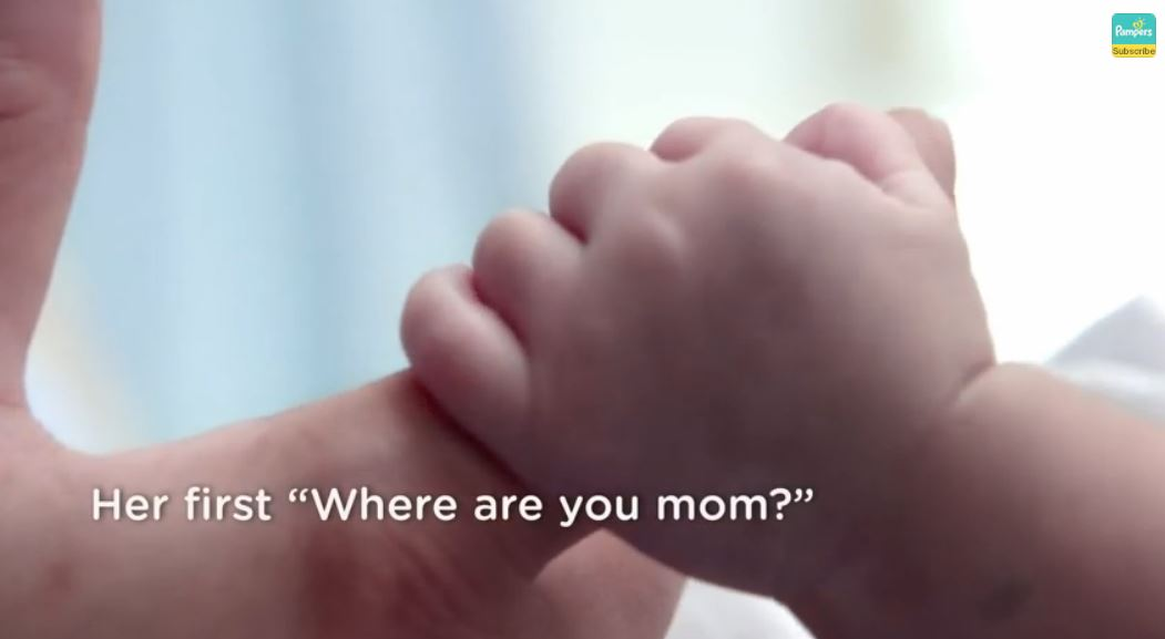 Pampers Ad where were you mom