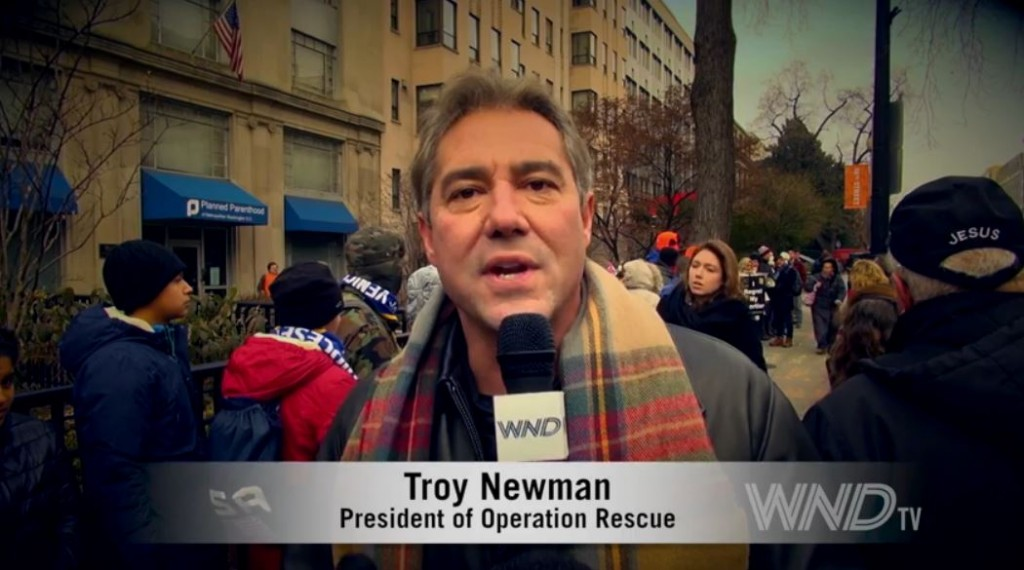Troy Newman Planned Parenthood March for Life 2015