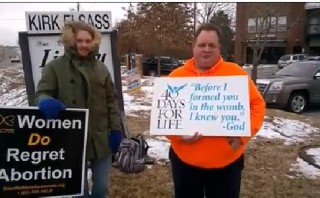 First amendment right to hold pro-life signs near highway confirmed