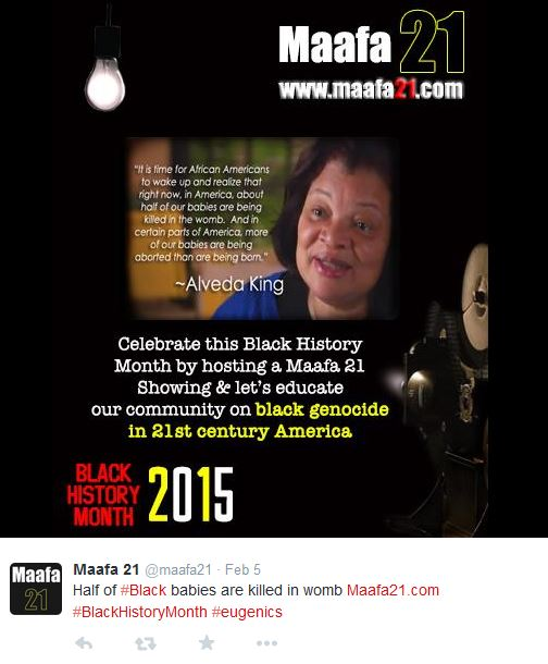 Alveda King half black babies die in womb Black History Month