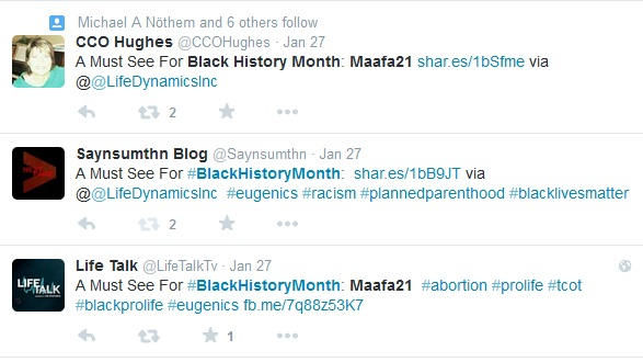 Maafa21 Black History Month Tweets 2