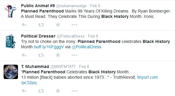 Planned Parenthood and Black History Month tweets 4