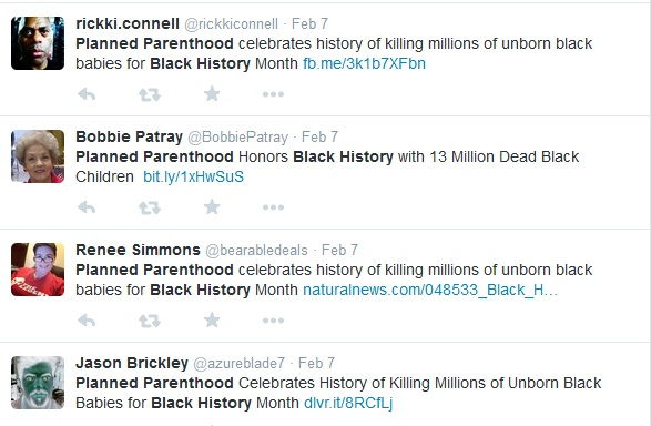 Planned Parenthood and Black History Month tweets 5