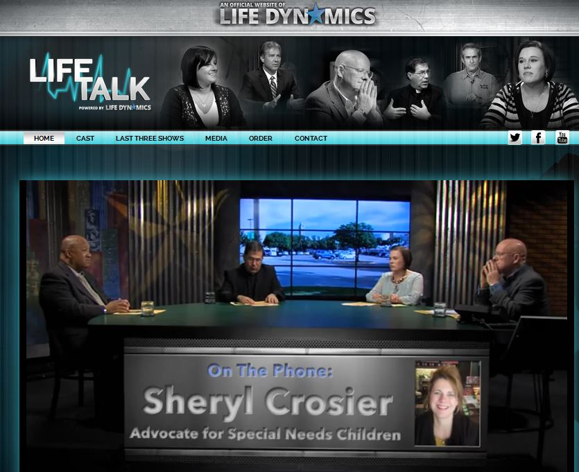 Sheryl Crosier Life Talk Feb 2015 prolife