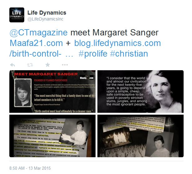 Christianity Today meet Margaret Sanger