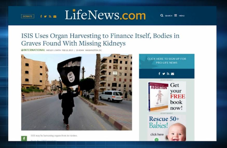 ISIS Harvesting Organs March Life Talk 2015