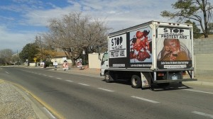 Protest ABQ Abortion truth truck 432939309388479_n