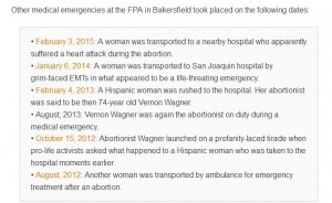 OR List of FPA ambulance botched abortions