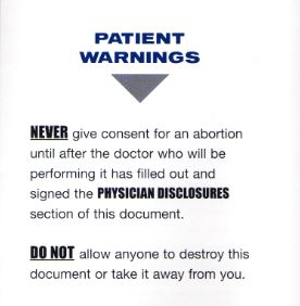 Patient Warnings abortion Life Dynamics