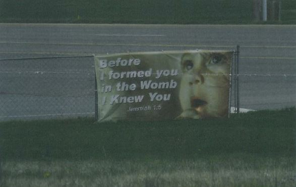 Church ordered to remove prolife sign