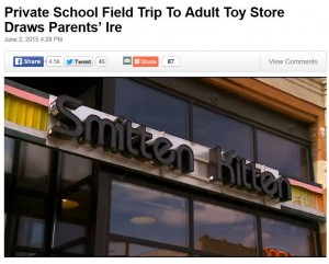 parents outraged when teacher takes kids adult store