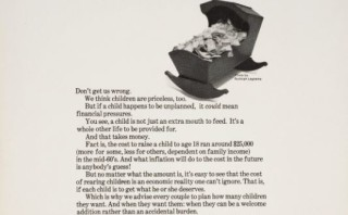 "Vintage Planned Parenthood poster calls children ""priceless"" and ""a whole other life"""