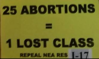 25 abortions one lost class