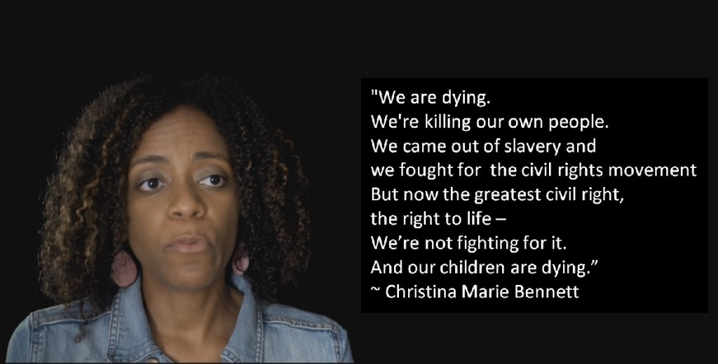 Christina Bennett prolife Black abortion