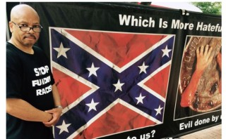 Pro-life Blacks protest outside NAACP using Confederate Flag and abortion victims