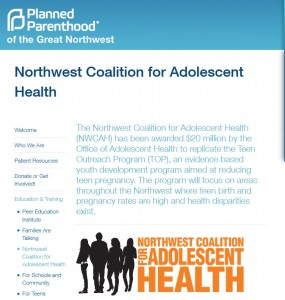 Northwest Coalition for adolescent health Planned Parenthood