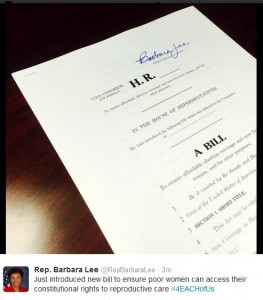 Rep Barbara Lee abortion