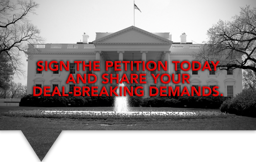 Sign the petition today and share your deal-breaking pro-life demands