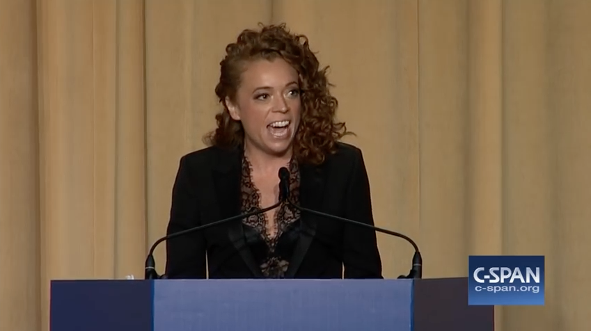 2018, Michelle Wolf at the White House Correspondents Association Annual Dinner. Taken from C-SPAN feed.