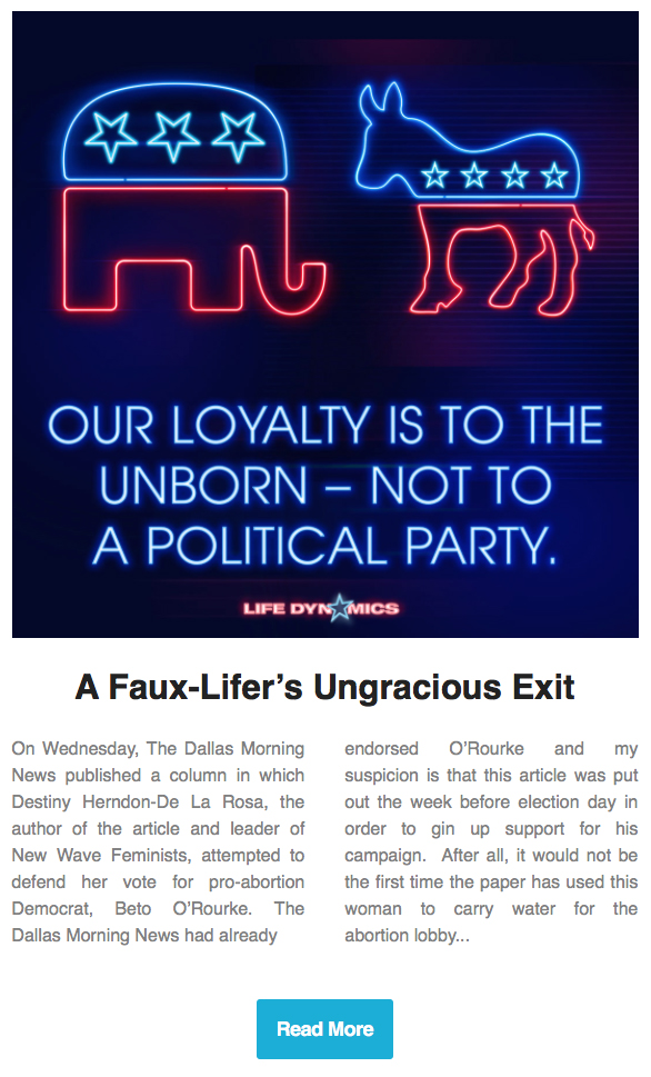 A Faux-Lifers Ungracious Exit By: Mark Crutcher