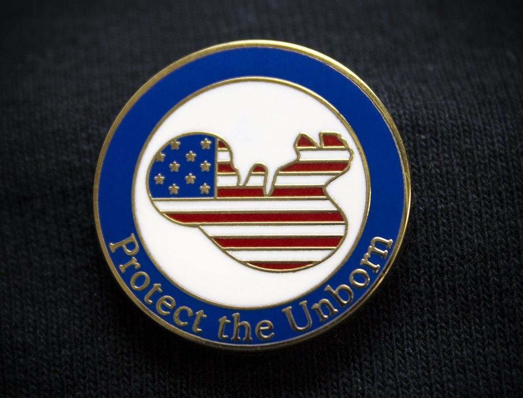 Proudly support the unborn with this pin!