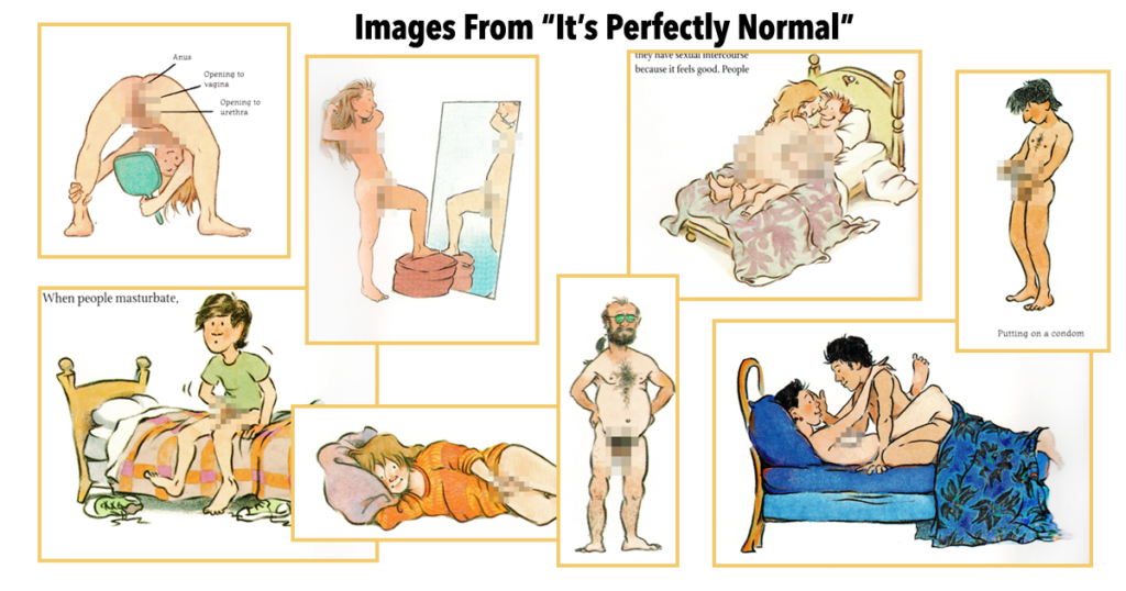 """Graphic illustrations from the book, """"It's Perfectly Normal."""""""