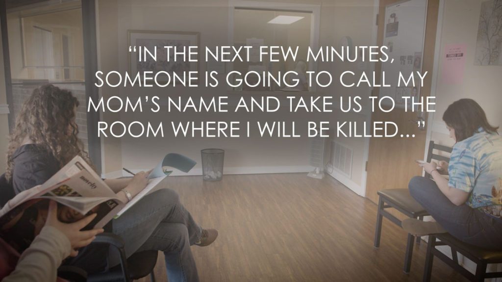 """In the next few minutes, someone is going to call my mom's name and take us to the room where I will be killed..."""