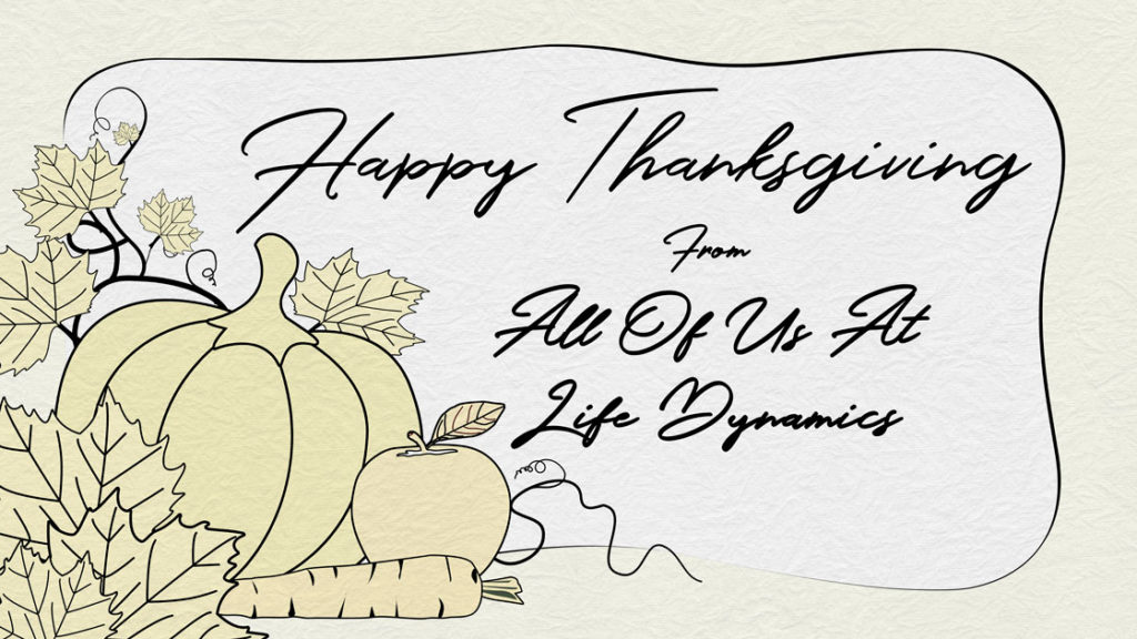 Happy Thanksgiving From All of Us At Life Dynamics!